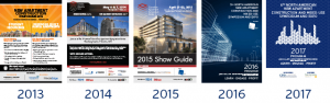 Show Guide Covers from 2013 to 2017