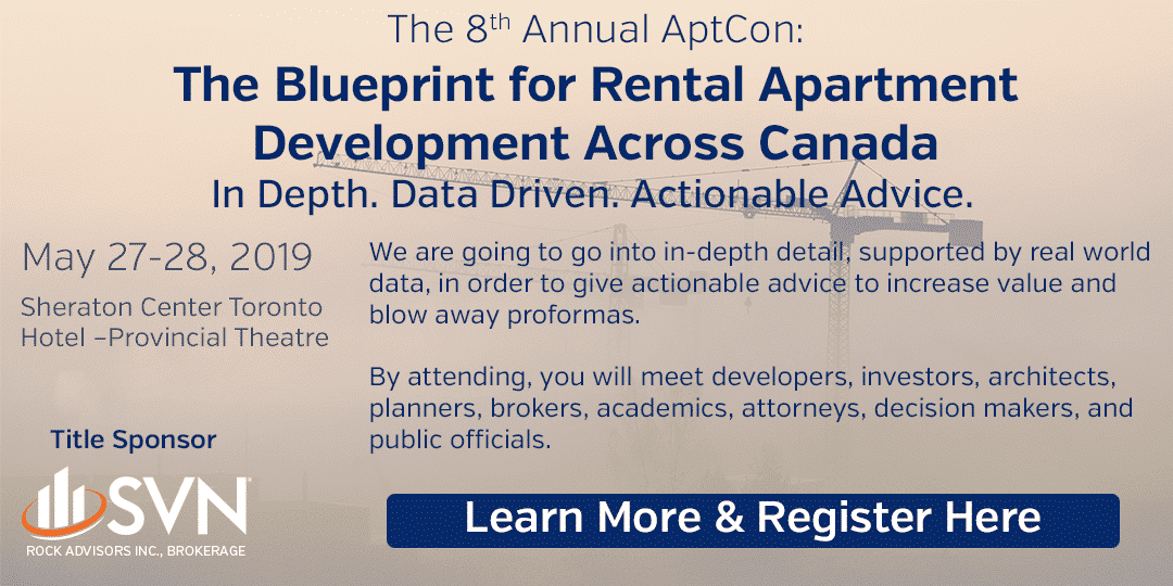 8th Annual AptCon: The Blueprint for Rental Apartment Development Across Canada