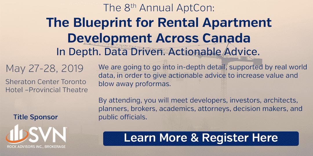 8th Annual AptCon: The Blueprint for Rental Apartment Development Across Canada