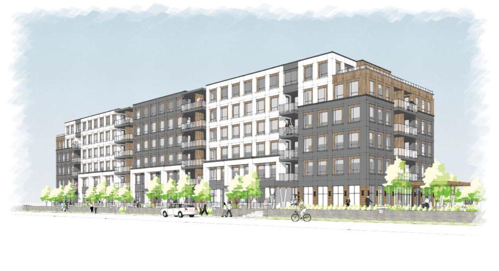 Rendering of Gordon Street - Apartment Crane Watch